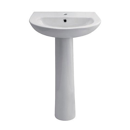 Image for Vitale Tempo Full Pedestal Basin 550mm - 2 Tap Hole from StoreName