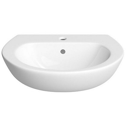 Image for Vitale Tempo Semi Recessed Basin 550mm - 2 Tap Hole from StoreName