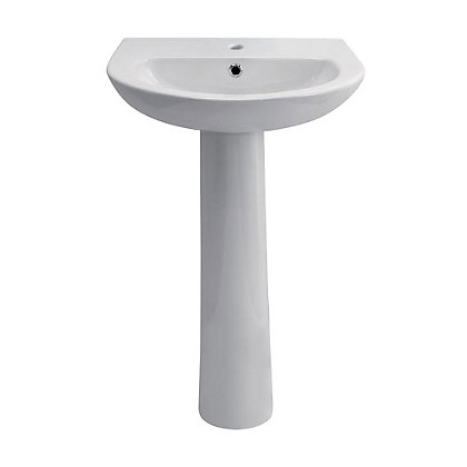 Image for Vitale Tempo Full Pedestal Basin 450mm - 2 Tap Hole from StoreName