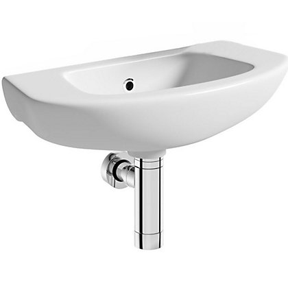 Image for Vitale Spring Mini Side Tap Basin with Bottle Trap 520mm - 1 Tap Hole from StoreName
