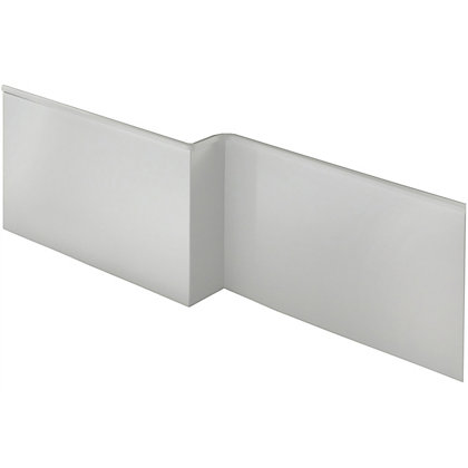 Image for Vitale L Shaped Front Bath Panel in White Gloss - Left Hand - 1675mm from StoreName