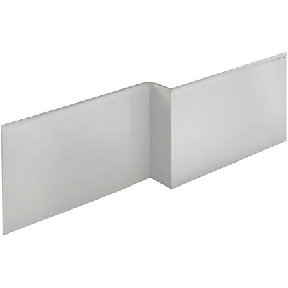 Image for Vitale L Shaped Front Bath Panel in White Gloss - Right Hand - 1675mm from StoreName