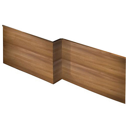 Image for Vitale L Shaped Front Bath Panel in Walnut - Left Hand - 1675mm from StoreName