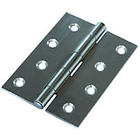 Butt Hinge Zinc Plated - 100mm - Pack of 2