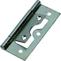 Flush Hinge Zinc Plated - 50mm - Pack of 2