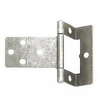 Cranked Flush Hinge Zinc - 50mm - Pack of 2