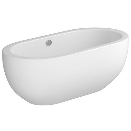 Image for Vitale Contemporary Oval Freestanding Bath - 1805 x 800mm - 0 Tap Holes from StoreName
