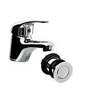 Vitale Lever Basin Mixer Tap inc Waste