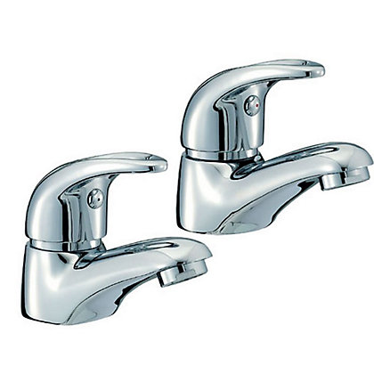 Image for Vitale Curved Lever Basin Taps from StoreName