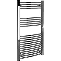Vitale Towel Warmer with Curved Rails 600 x 1200mm- Chrome