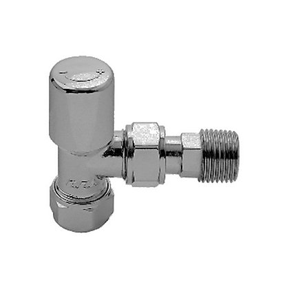 Image for Vitale Pair of Angled Radiator Valves- Chrome from StoreName