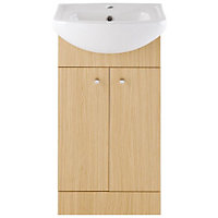 Vitale Bold Vanity Unit 450mm in Light Oak