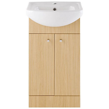Image for Vitale Bold Vanity Unit 450mm in Light Oak from StoreName