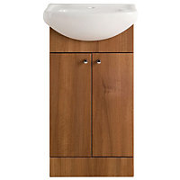 Vitale Bold Vanity Unit 450mm in Walnut