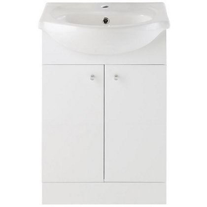 Image for Vitale Bold Vanity Unit 550mm in White Gloss from StoreName