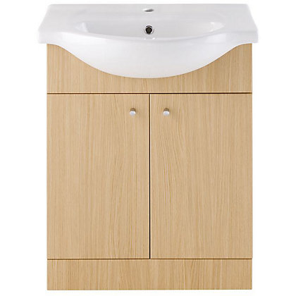 Image for Vitale Bold Vanity Unit 650mm in Light Oak from StoreName
