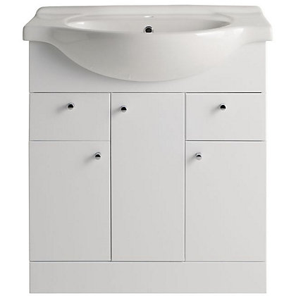 Image for Vitale Bold Vanity Unit 750mm in White Gloss from StoreName
