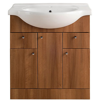 Image for Vitale Bold Vanity Unit 750mm in Walnut from StoreName