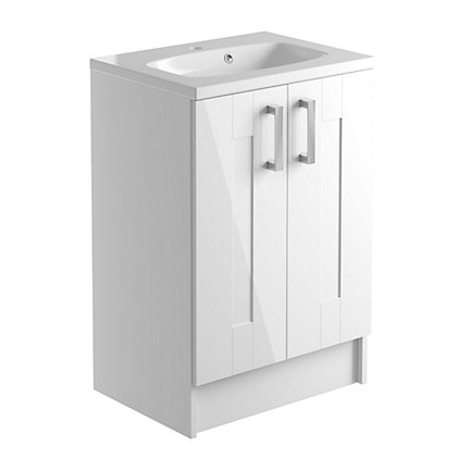Image for Vitale Vibrant 2 Door Vanity Unit 600mm White Classic from StoreName