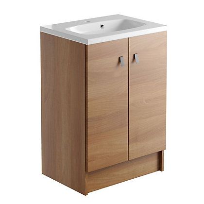 Image for Vitale Vibrant 2 Door Vanity Unit 600mm in Walnut from StoreName