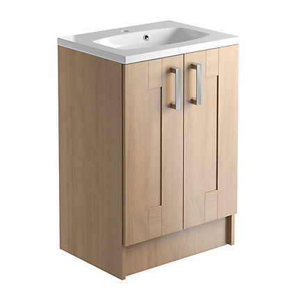 Image for Vitale Vibrant 2 Door Vanity Unit 600mm in Oak Classic from StoreName