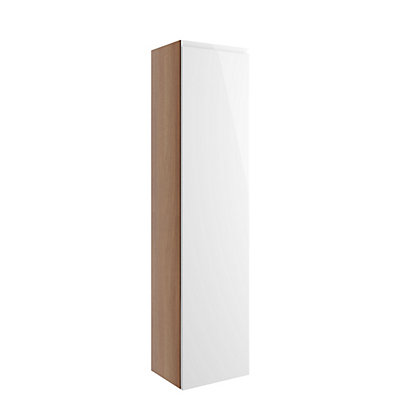 Image for Vitale Vibrant 1 Door Tall Unit 300mm in White Gloss from StoreName