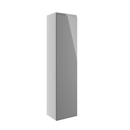 Image for Vitale Vibrant 1 Door Tall Unit 300mm in White/Lava Grey Gloss from StoreName