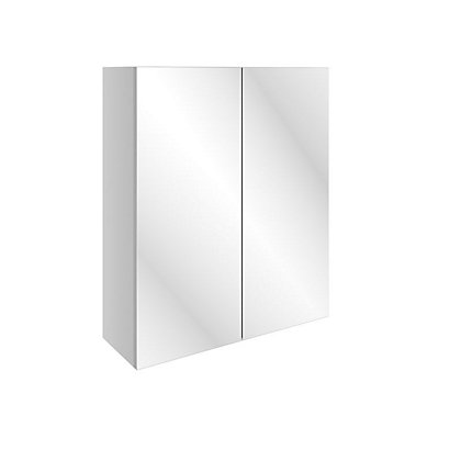 Image for Vitale Vibrant 2 Door Mirrored Wall Unit 600mm White Gloss from StoreName