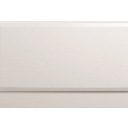 Image for Vitale Vibrant Contemporary End Bath Panel 700mm Gloss White from StoreName