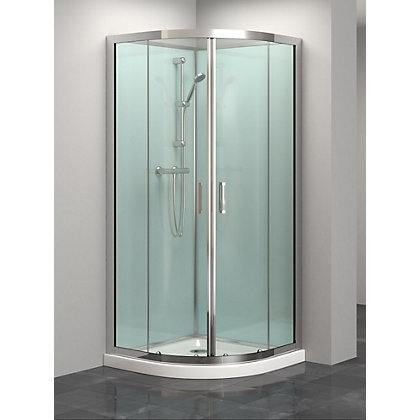 Image for Vitale Quadrant Shower Cabin - 2100 x 900mm - 6mm Toughened Safety Glass from StoreName