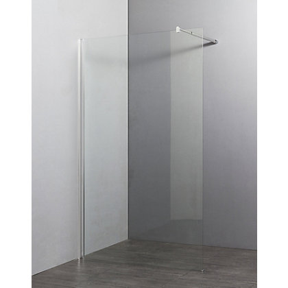 Image for Vitale Wet Room Panel with Rotating Panel - 1000 x 300mm - 6mm Safety Glass from StoreName
