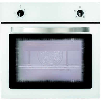 Image for Matrix MS001WH Built-in Single Fan Oven - White from StoreName