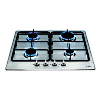 CDA hg6300ss 4 Burner Gas Hob - Stainless Steel