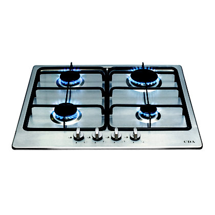 Image for CDA HG6300SS 4 Burner Gas Hob - Stainless Steel from StoreName
