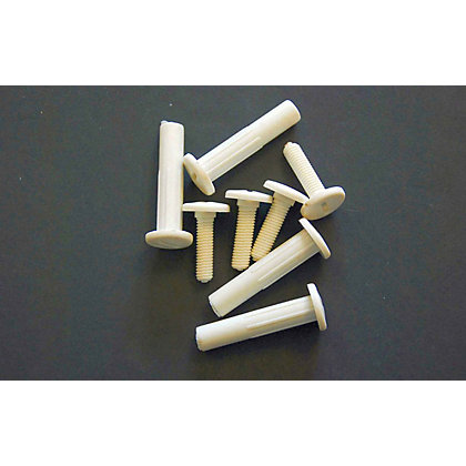 Image for Connecting Bolt - White - 4 Piece from StoreName