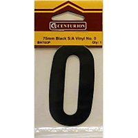 House Number Plate - Black - 0