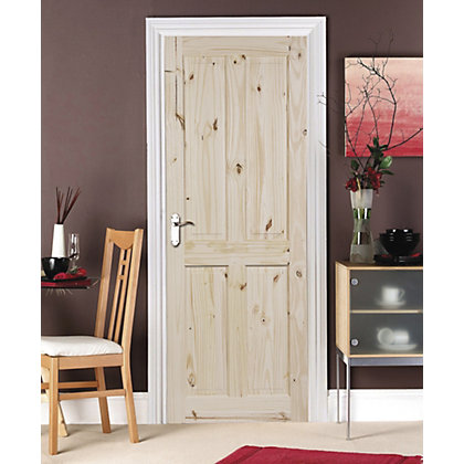 Image for London 4 Panel Knotty Pine Internal Door - 686mm Wide from StoreName