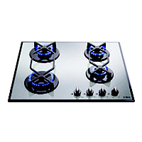 CDA HVG620SS Four Burner Gas on Glass Hob - Stainless Steel