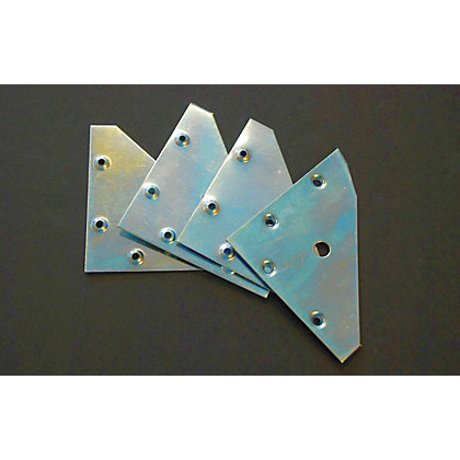 Image for Flat Corner Plate - 4 Piece from StoreName