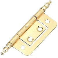 Finial Flush Hinge Electro Brass - 50mm - Pack of 2