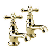 Bristan Colonial Basin Taps - Gold