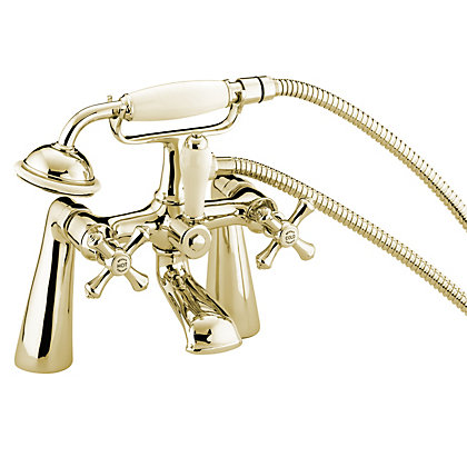 Image for Bristan Colonial Bath Shower Mixer - Gold from StoreName
