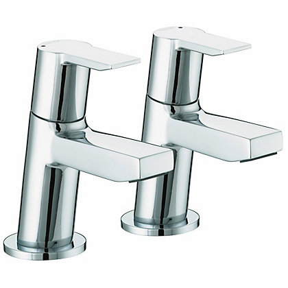 Image for Bristan Pisa Basin Taps - Chrome from StoreName