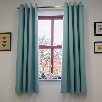 Image for Home of Style Eyelet Blackout Curtains - Duck Egg 66 x 72in from StoreName