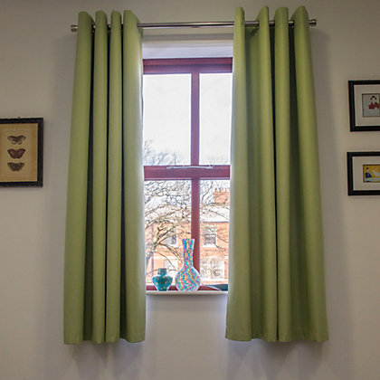 Image for Home of Style Eyelet Blackout Curtains - Green 66 x 54in from StoreName
