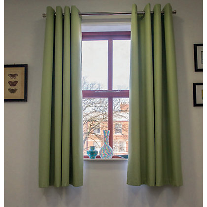 Image for Home of Style Eyelet Blackout Curtains - Green 66 x 72in from StoreName