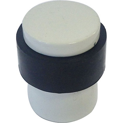 Image for White Cylinder Door Stop from StoreName