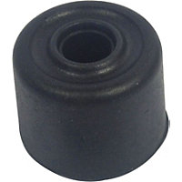 25mm Black Rubber Door Stop - 6 Pack