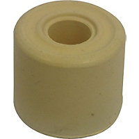 25mm White Rubber Door Stop - 6 Pack