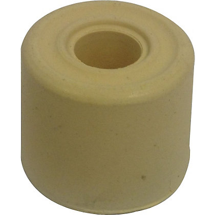 Image for 25mm White Rubber Door Stop - 6 Pack from StoreName